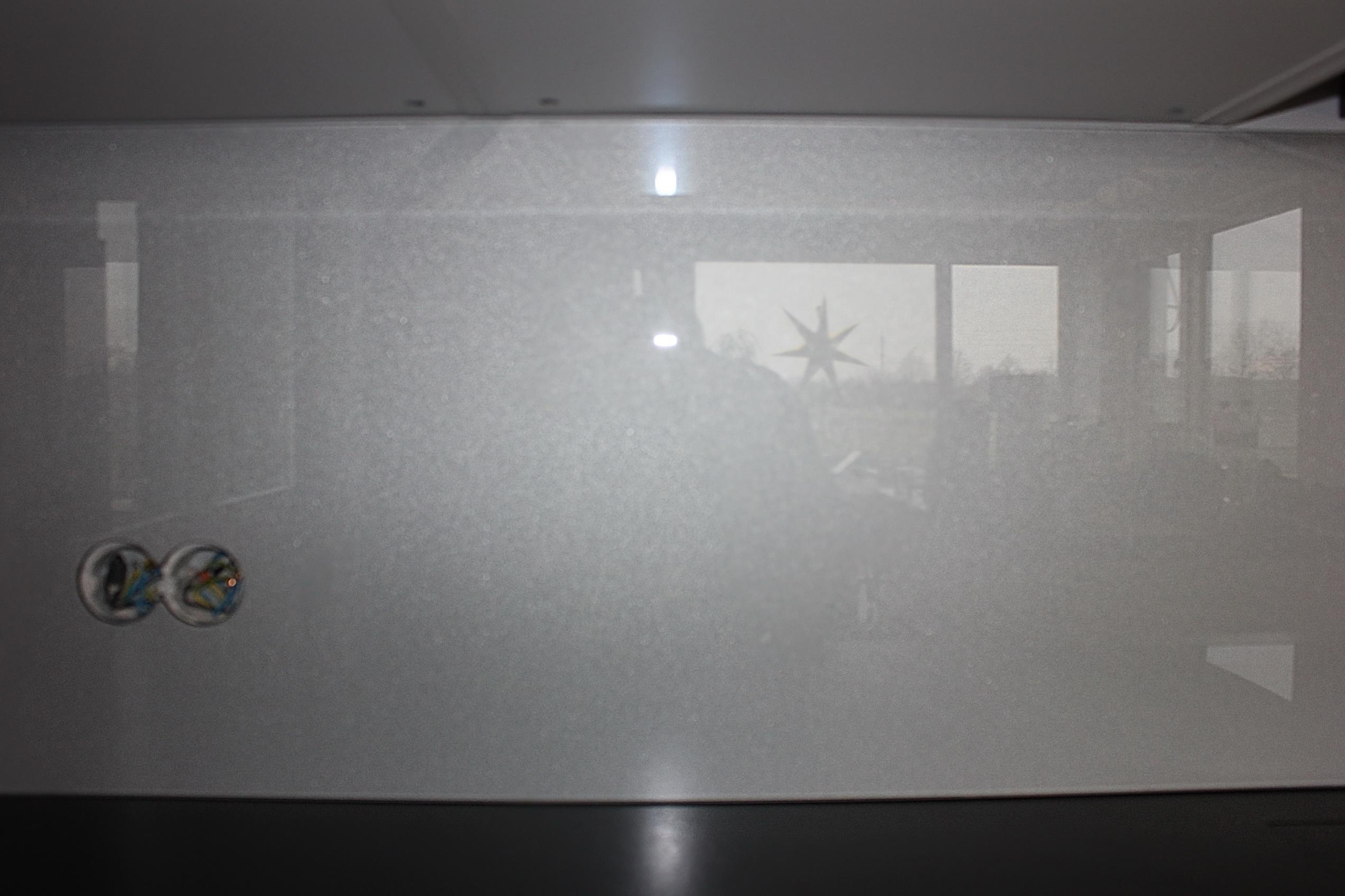 sklenená zástena perlet strieborna 4